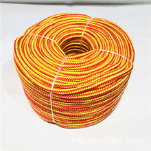 Multi-tujuan Orange Yellow PP Multifilament Jalinan Jalinan